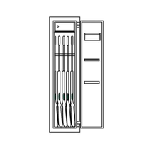 Sistec Gun Safe (5 unit) WSE 150/40 certified Grade 0 - Internal Capacity View
