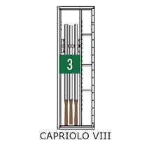 Format Capriolo VIII - Certified Grade 0 Gun Safe - Capacity View